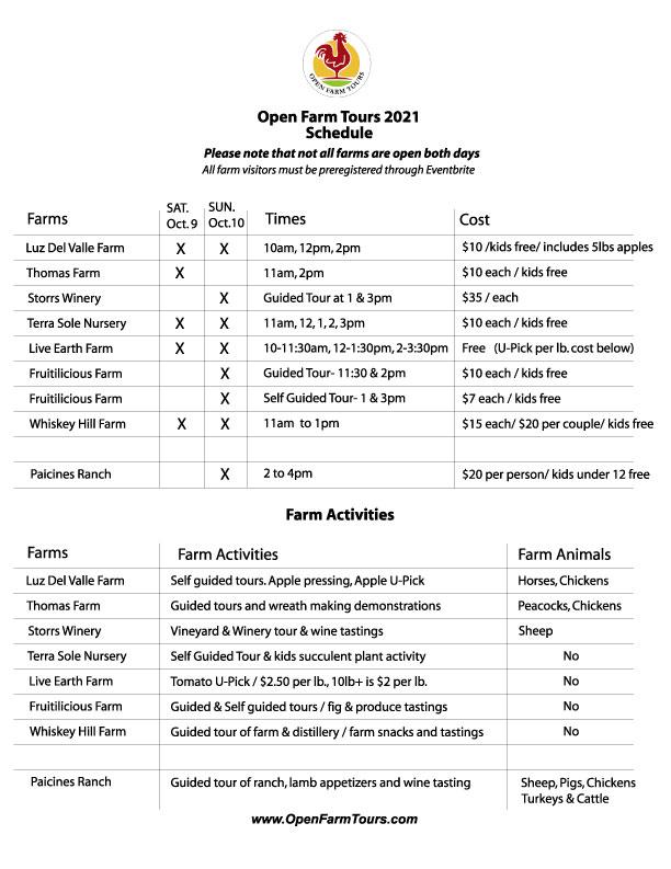 2021 OFT Schedule